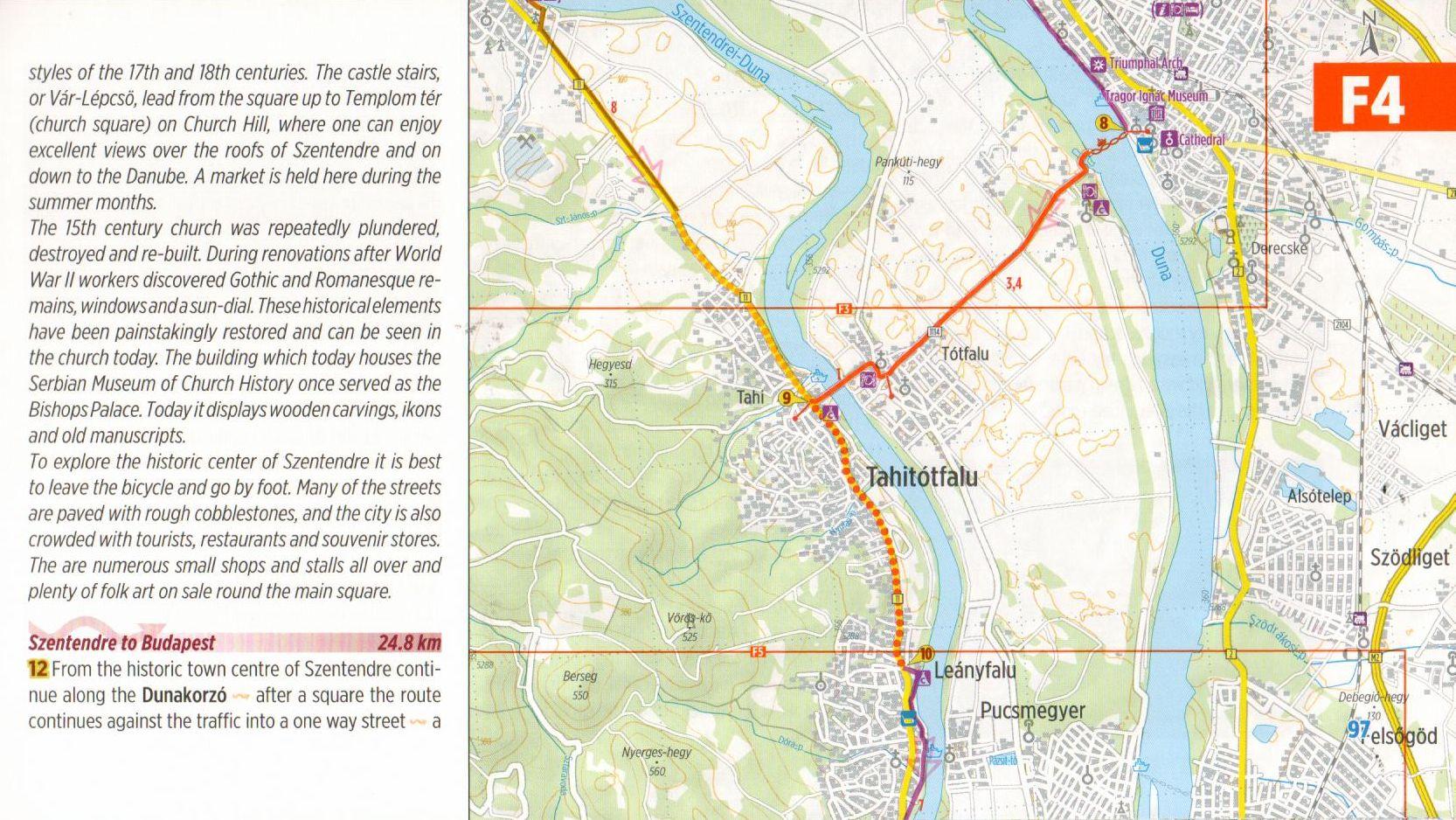 Duna-menti kerékpárút 3.: Mintalap