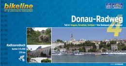 Spirál kötésű, 12 x 23 cm-es német nyelvű térképes utikönyv a Budapest-Belgrád közötti Duna szakaszról