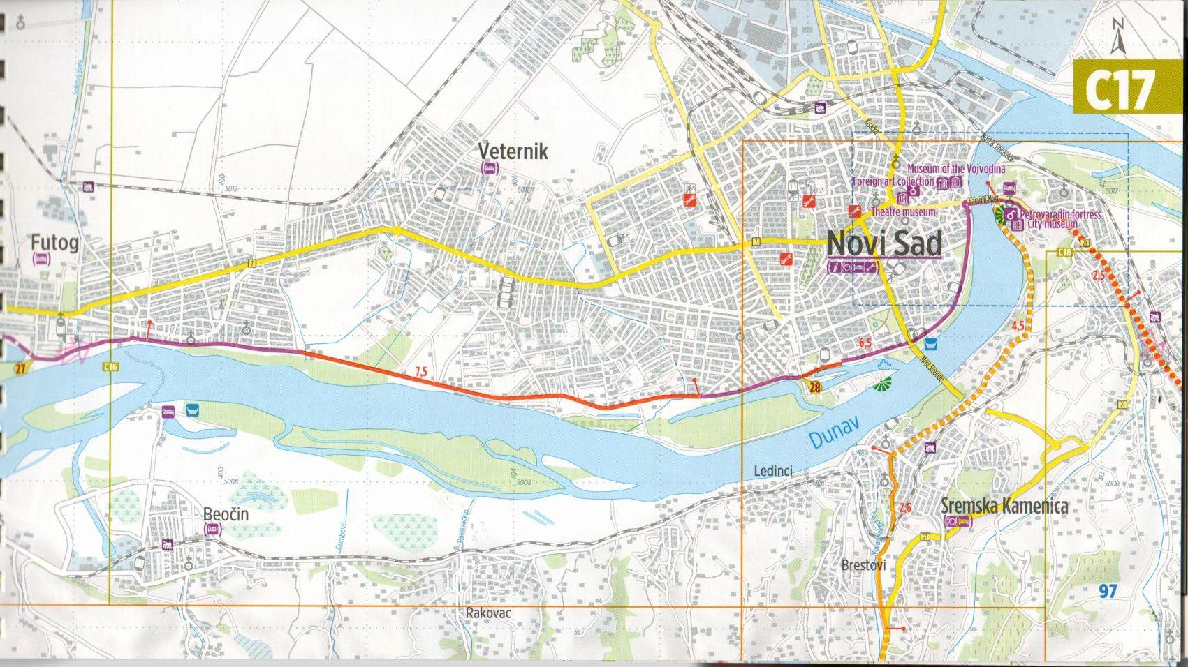 Duna-menti kerékpárút 4.: Mintalap
