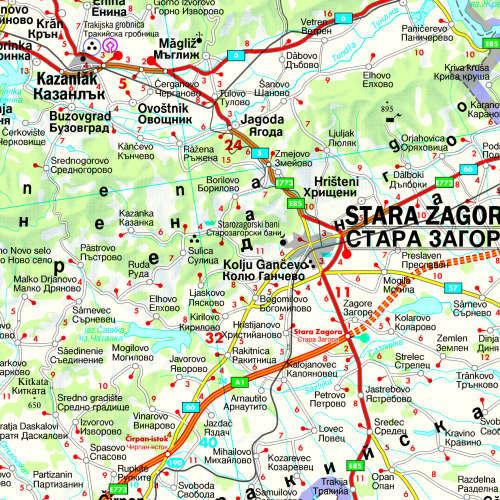 Bulgária autótérkép mintakivágat
