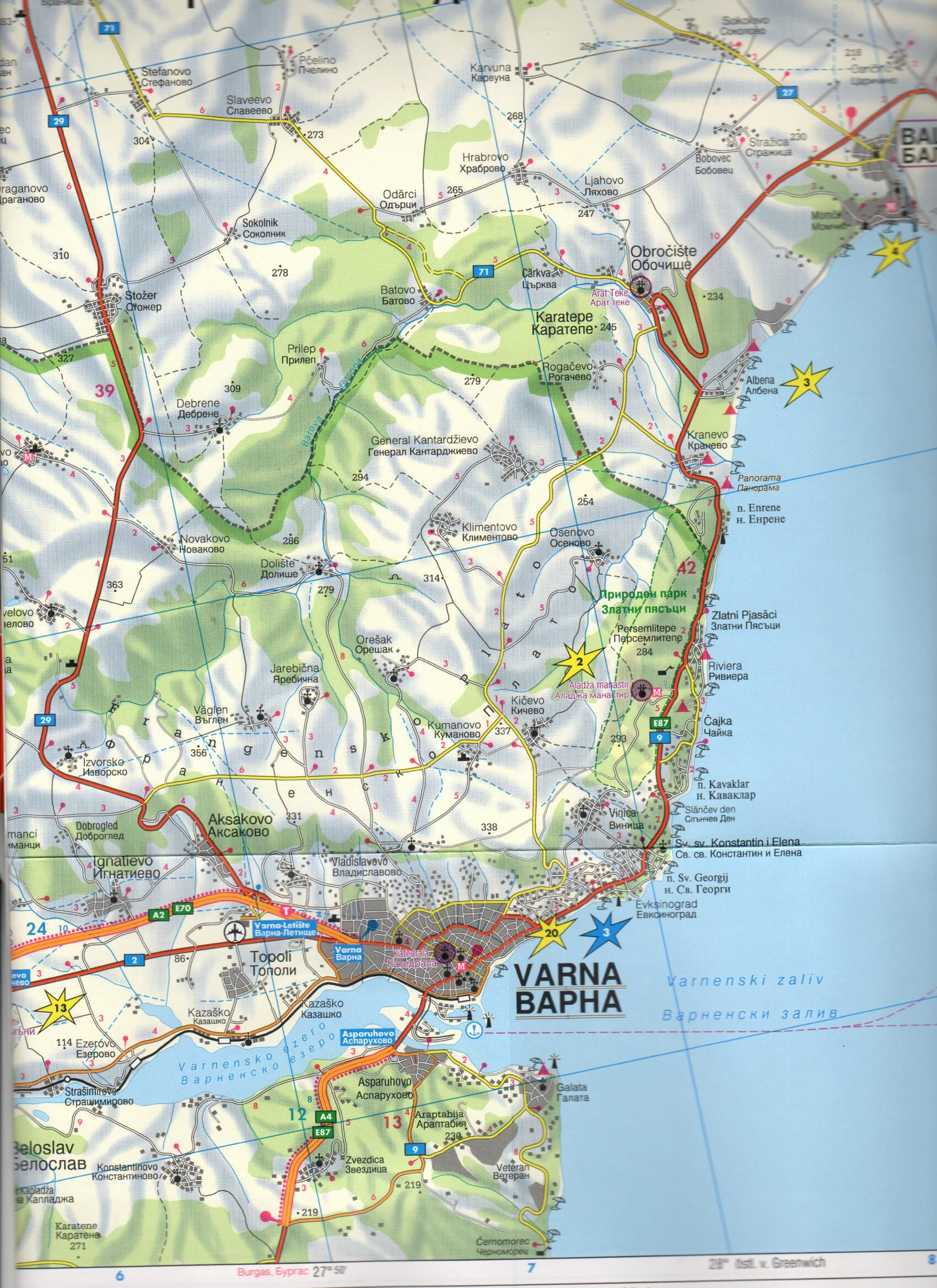 A Fekete-tenger partja c. térkép mintakivágata
