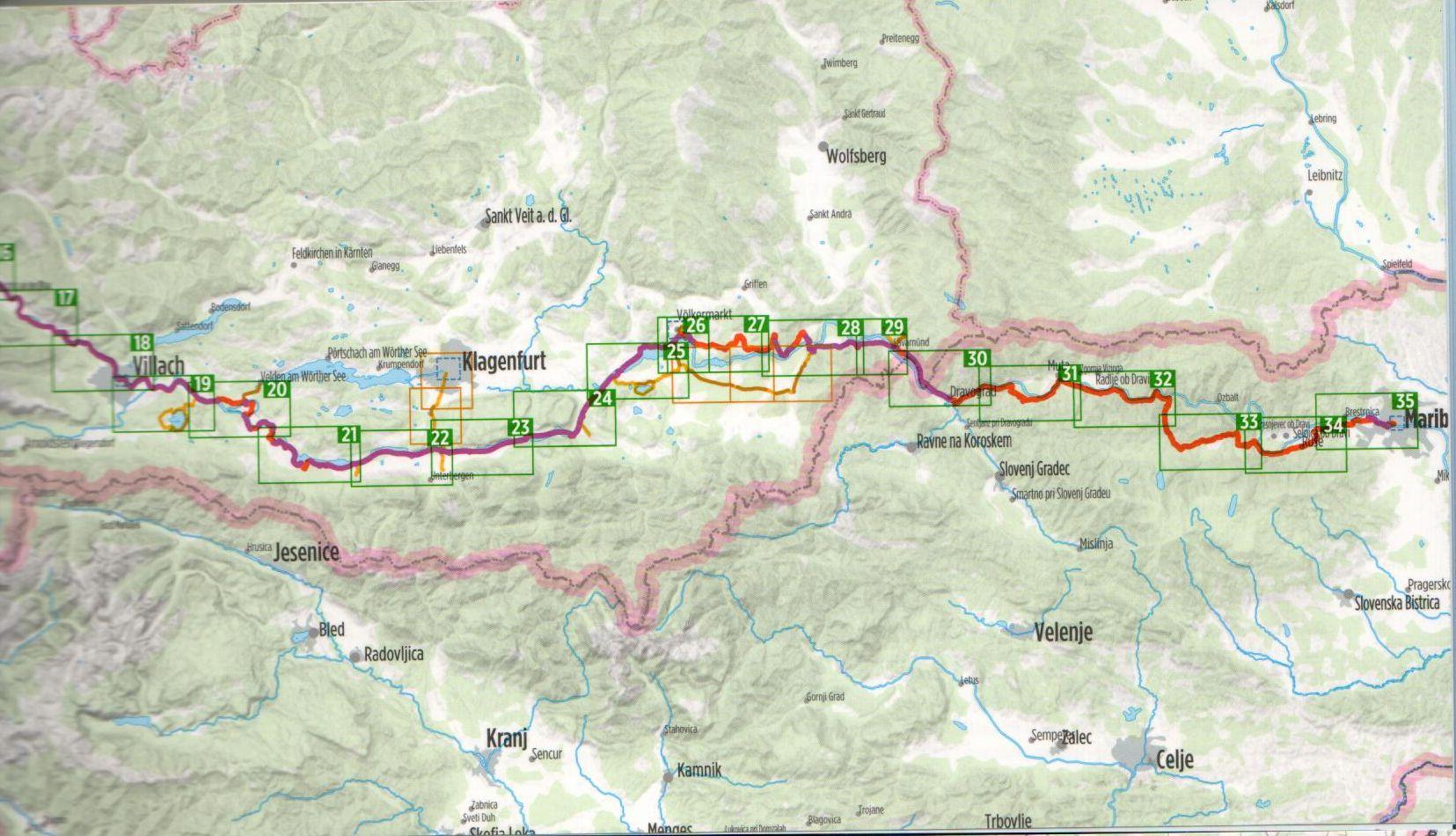A Dráva-menti útikalauz áttekintő térképe (K)