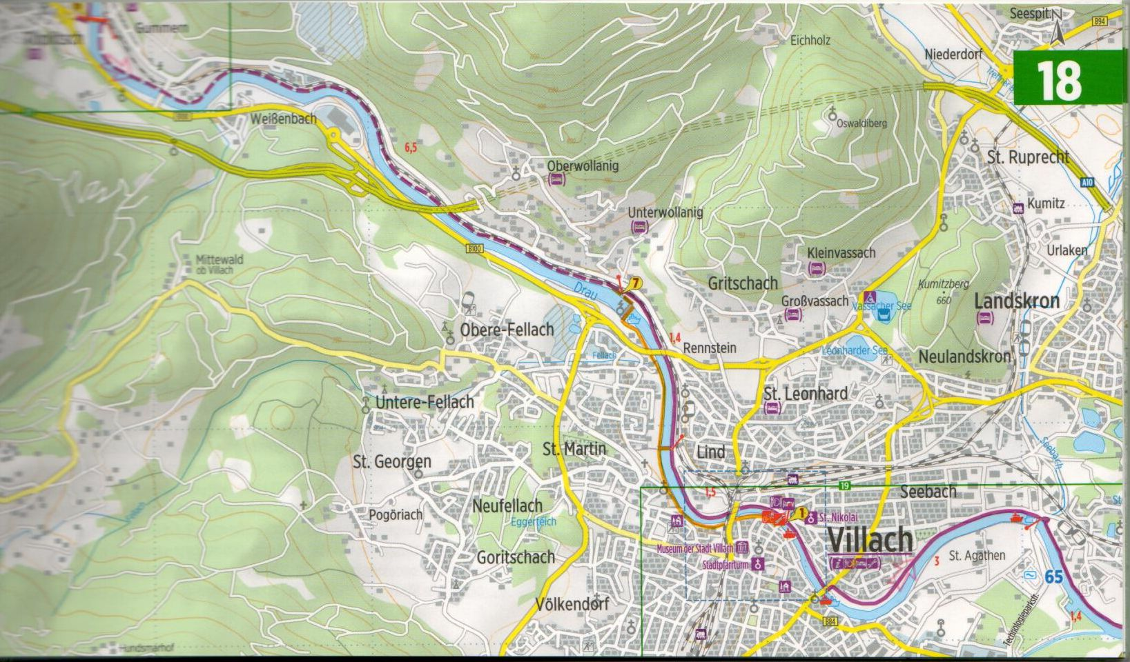 A Dráva-menti útikalauz mintalapja