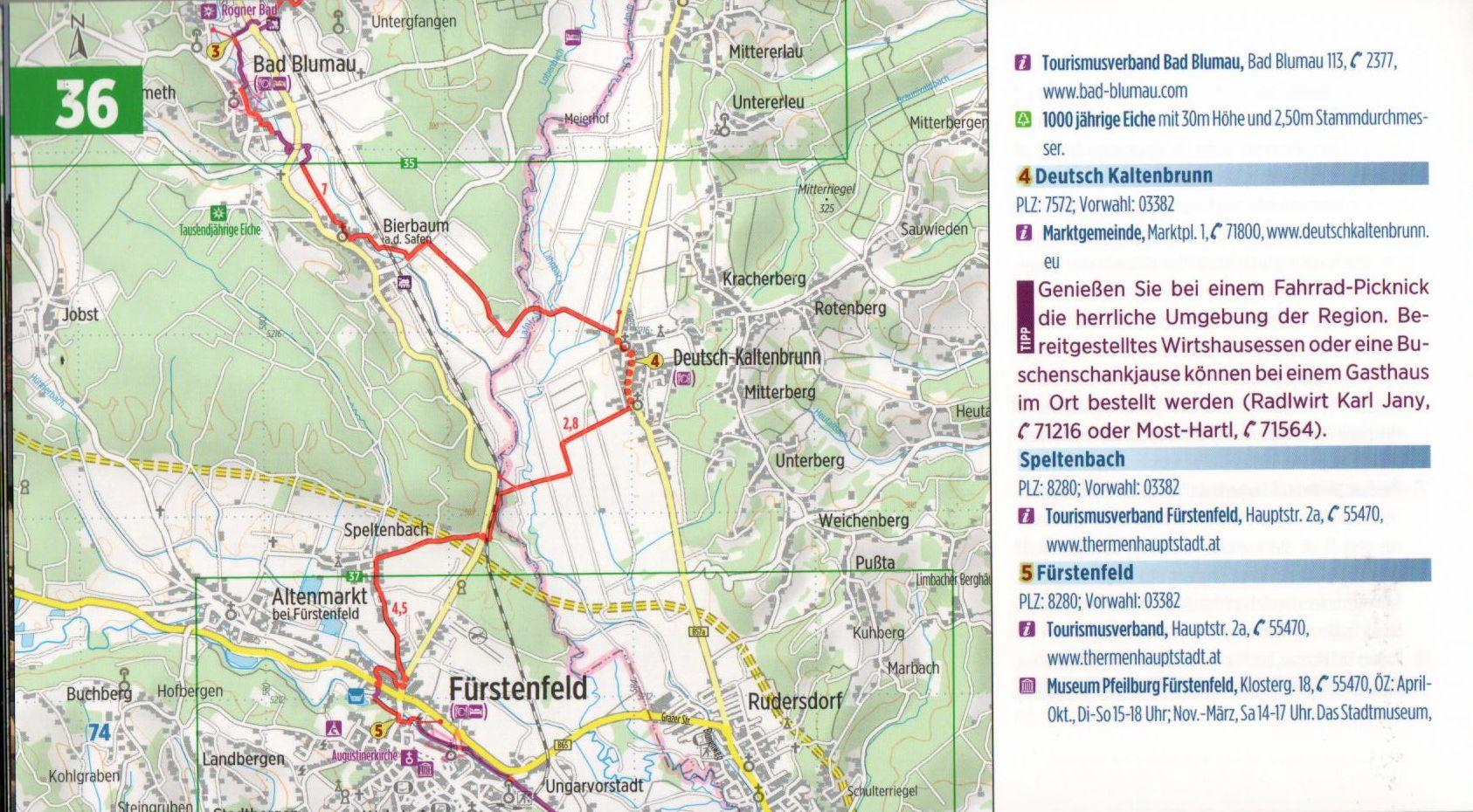 Az Euro 9-es biciklis útikalauz mintalapja