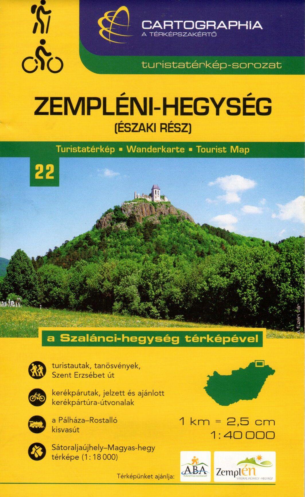 A Szalánci-hegység (Szlovákia) térképével