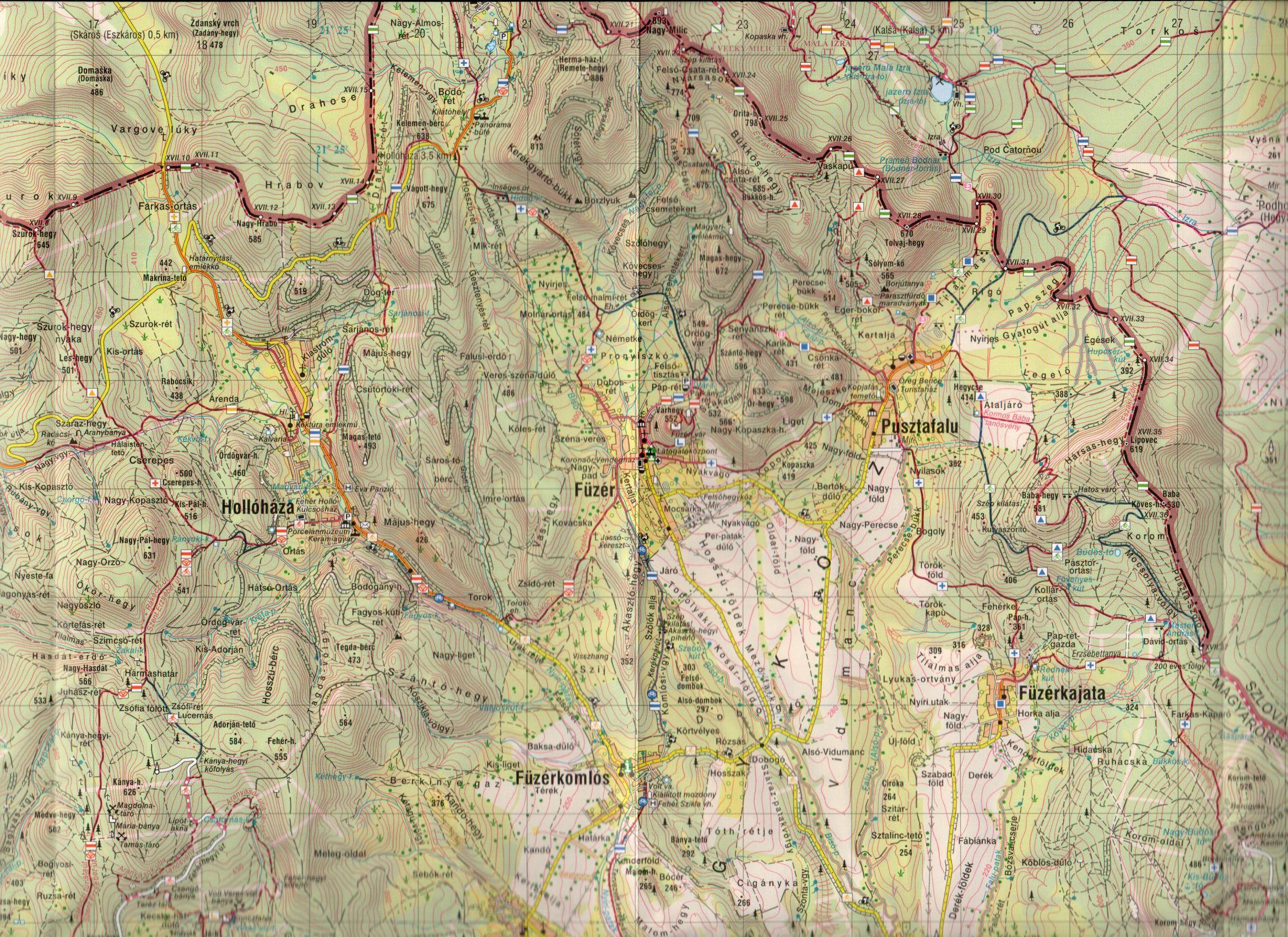 Zempléni-hg északi rész: térképminta