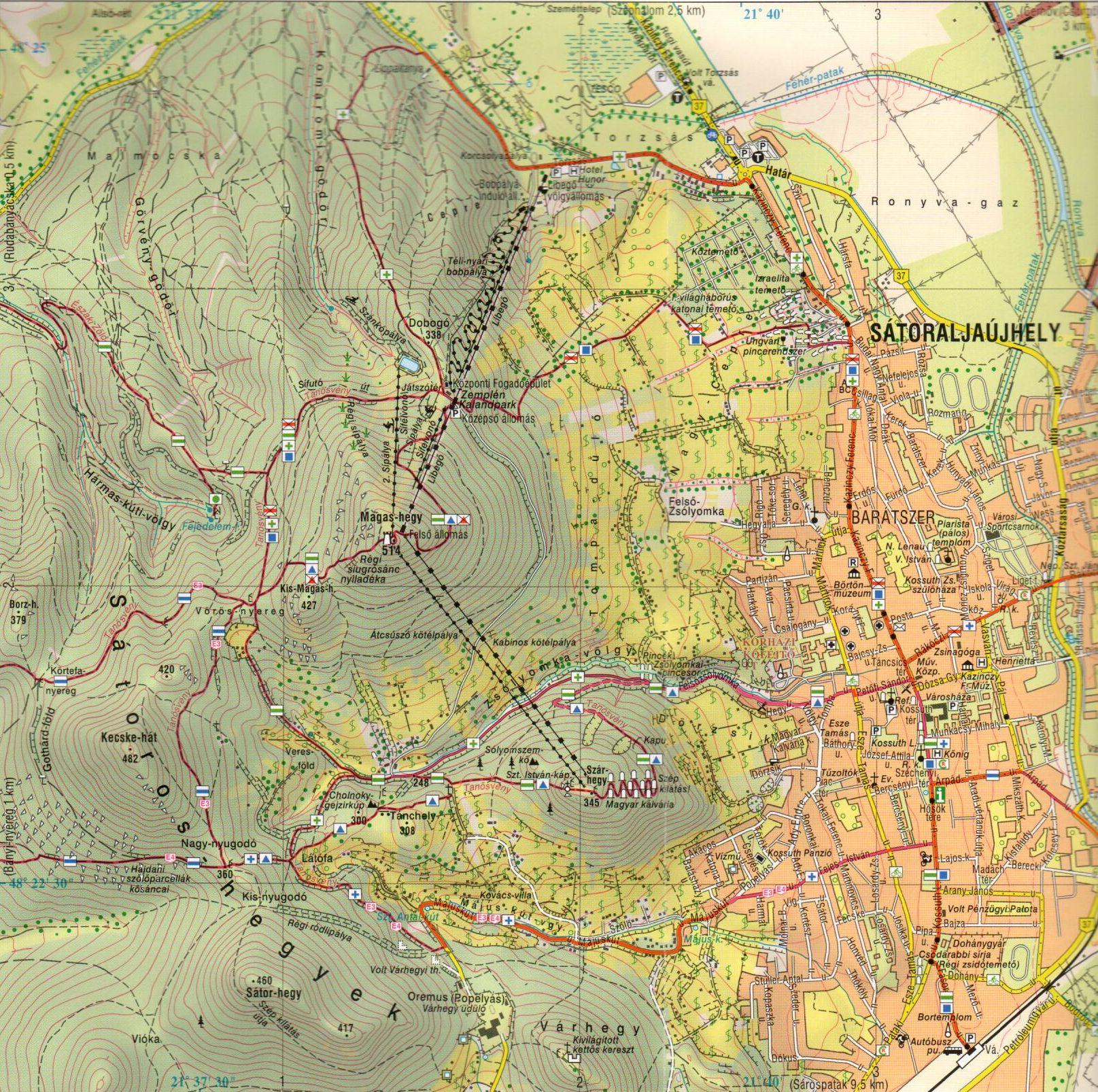 Zempléni-hg északi rész: Sátoraljaújhely
