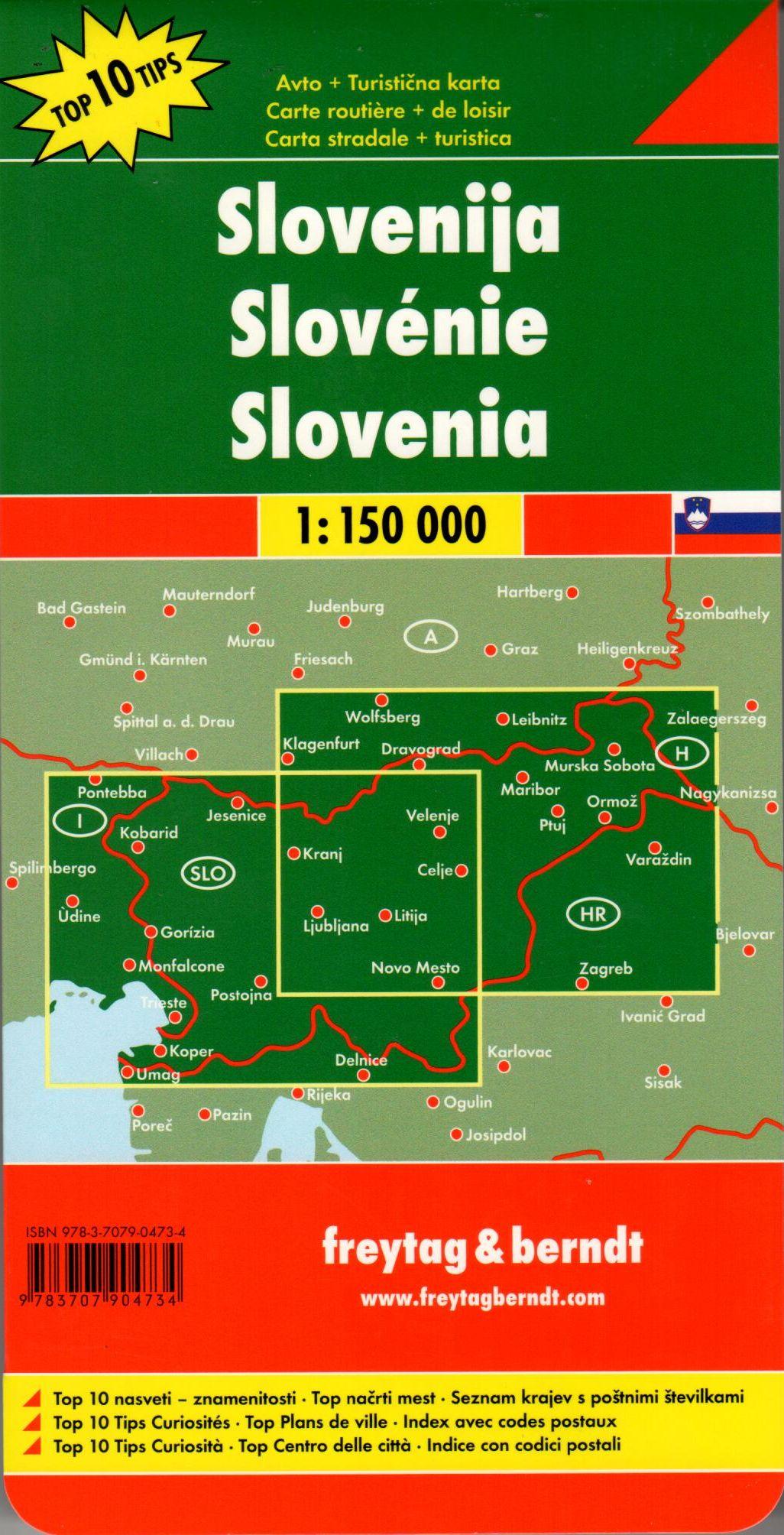 A Szlovénia térkép által lefedett terület
