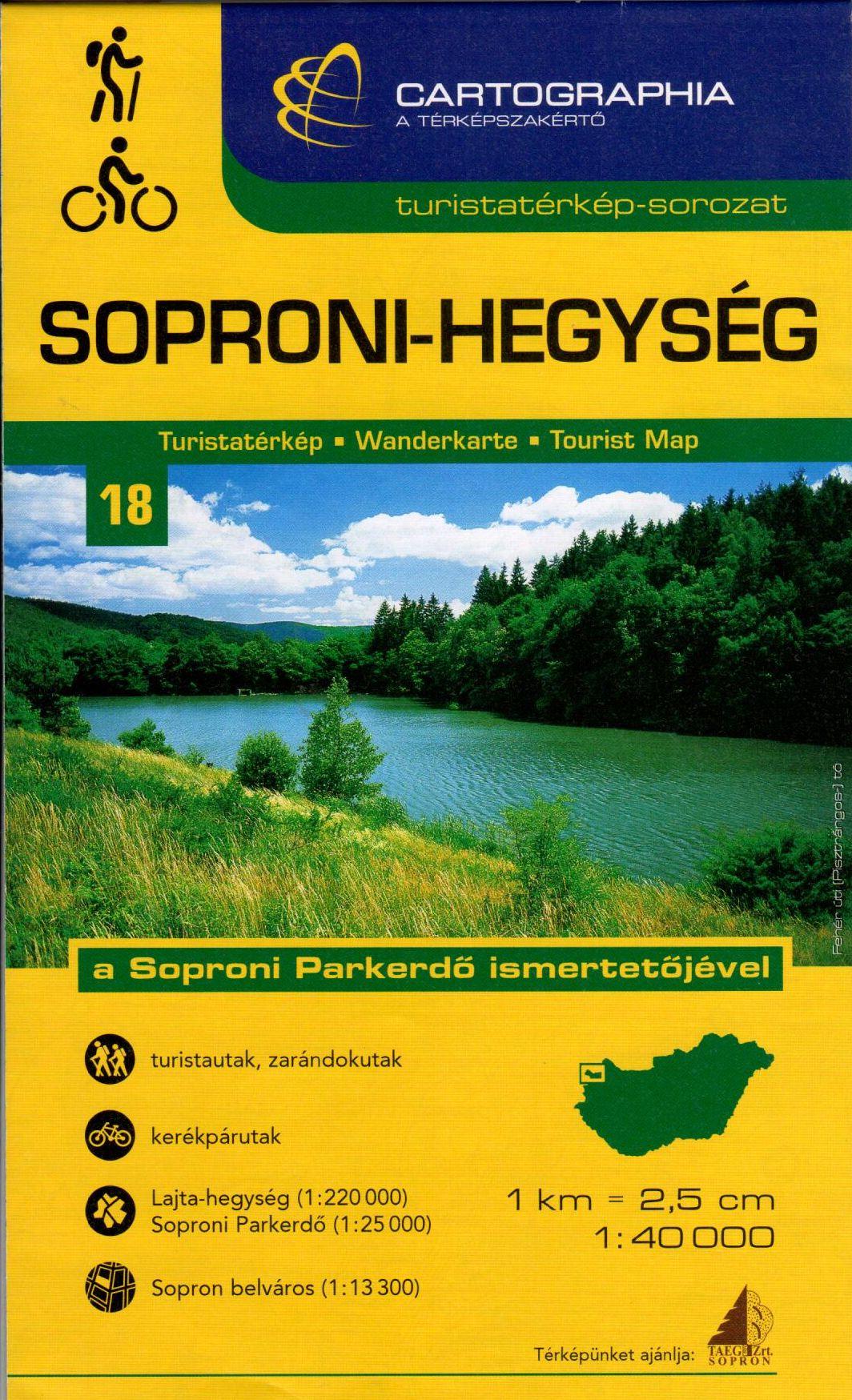 Soproni Parkerdő térkép és Sopron belvárostérkép