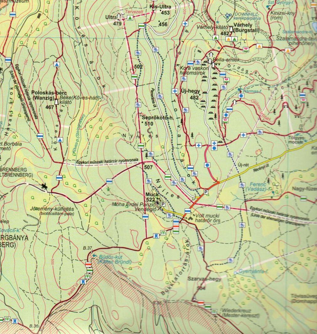 A Soproni-parkerdő 1:25.000 mintakivágata