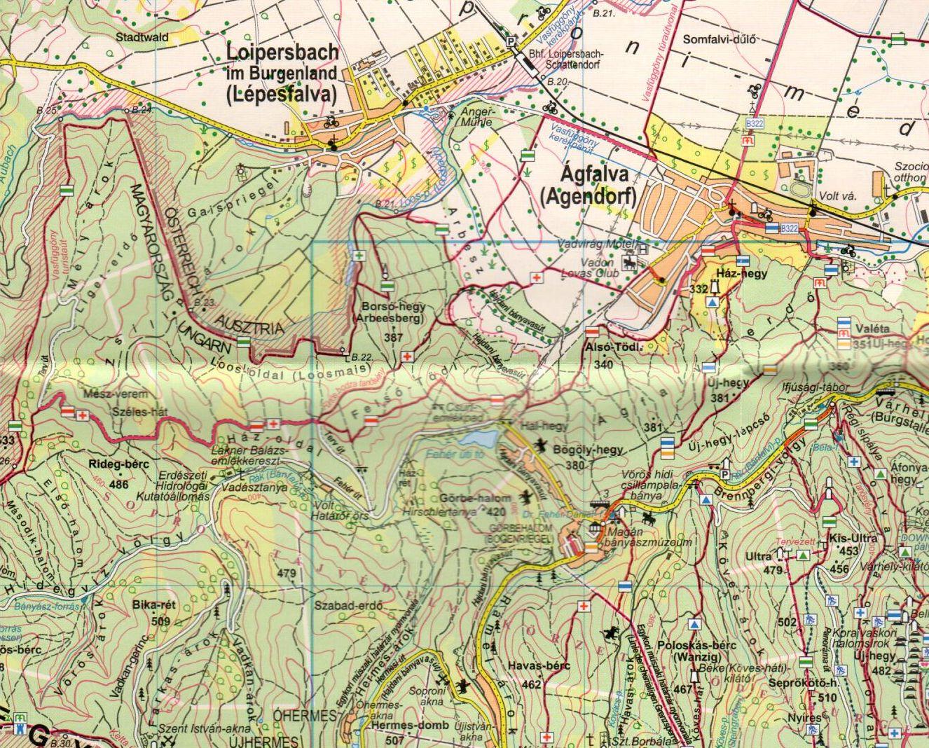 A Soproni-hegység mintakivágata