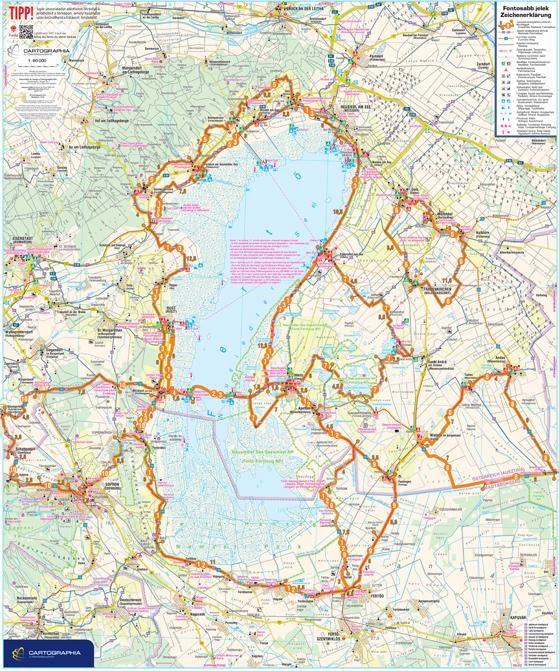 A Fertő aktív térkép által lefedett terület