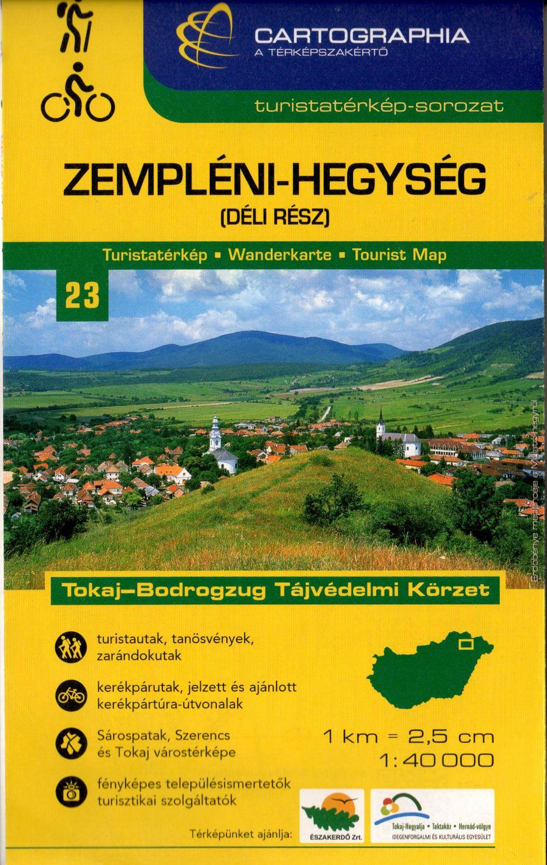 Sárospatak, Szerencs és Tokaj melléktérképpel, fényképes település ismertetőkkel