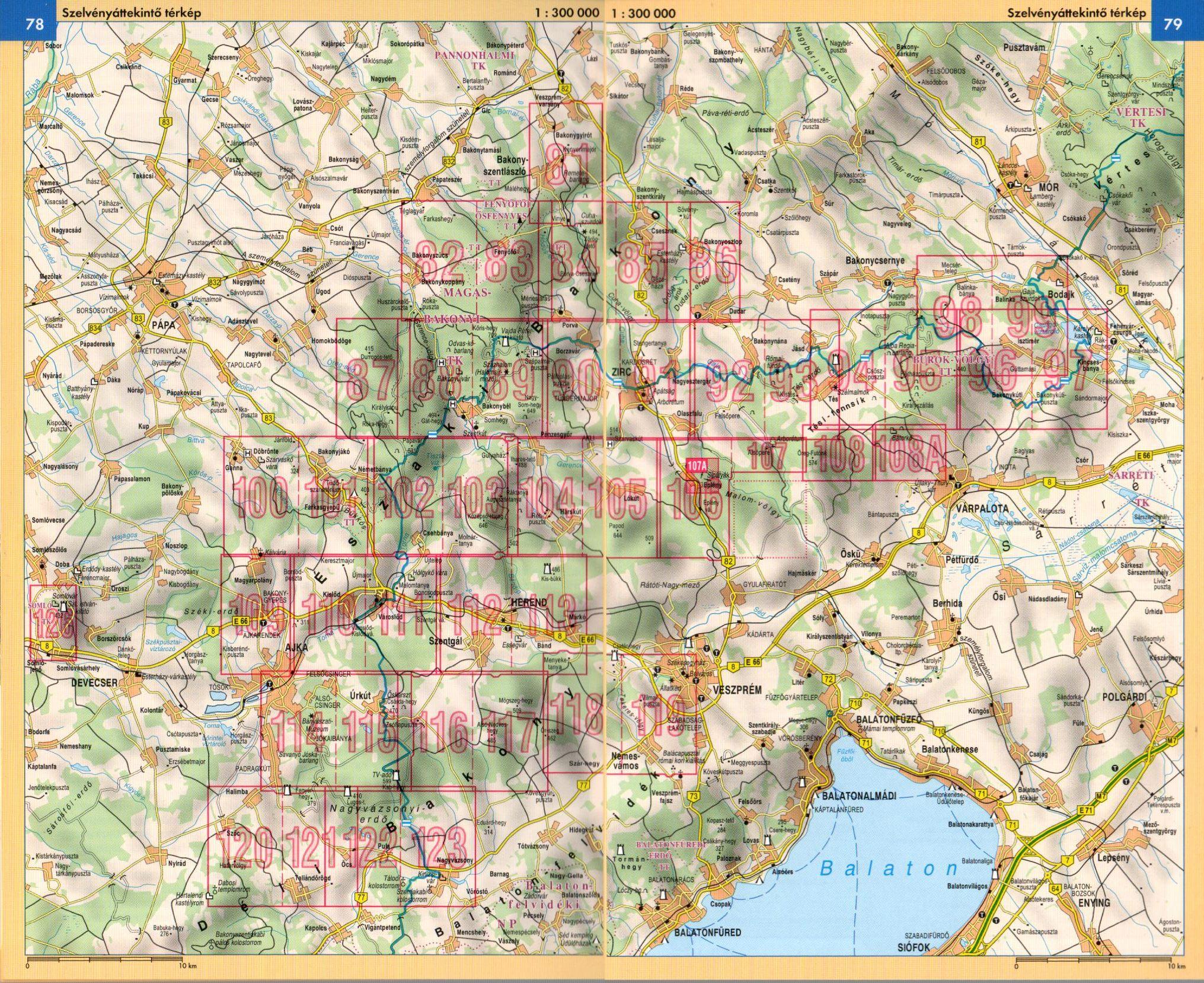 Bakony atlasz áttekintő térkép