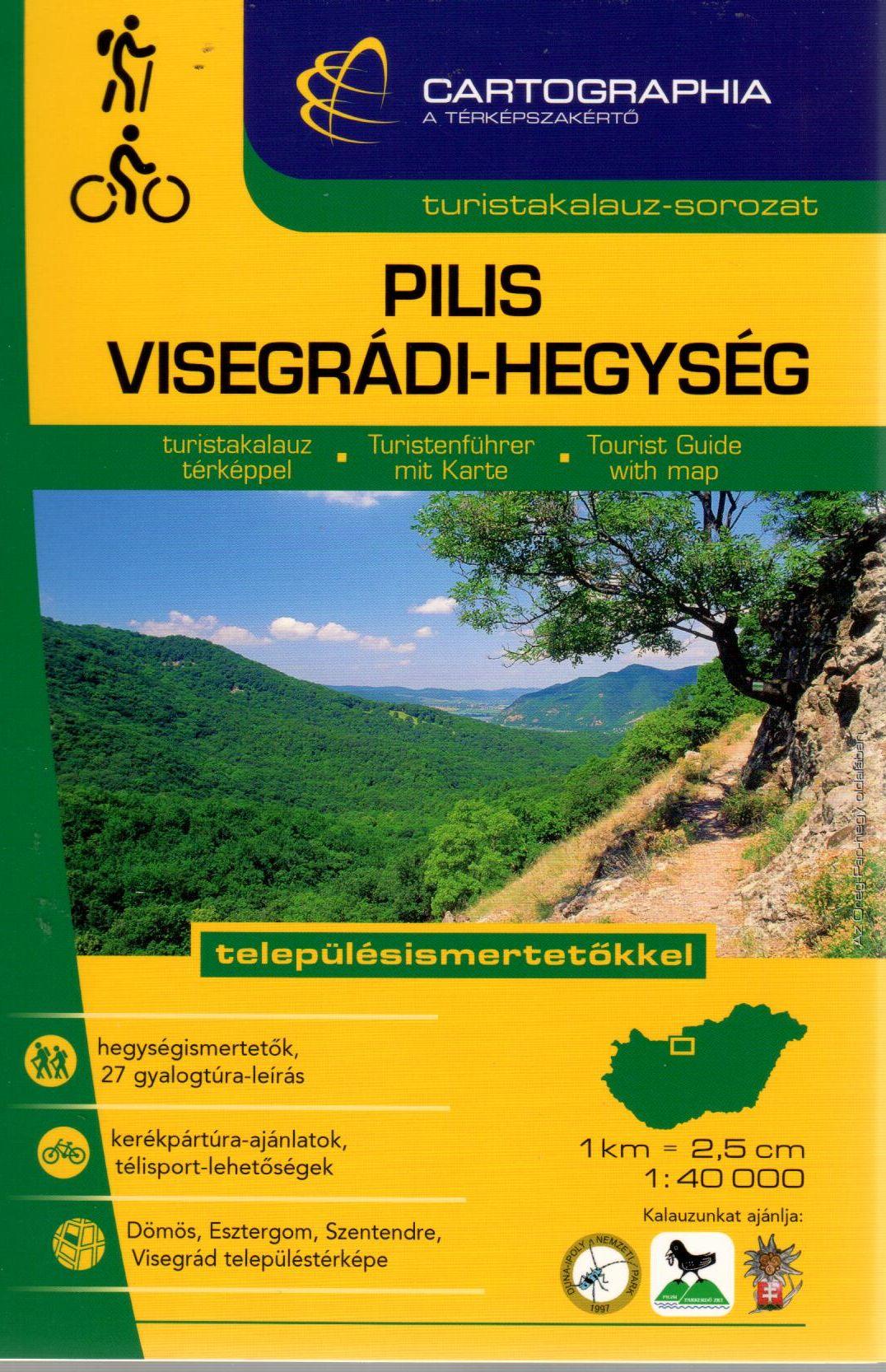 27 gyalogostúra leírás, 3 kerékpártúra ajánlat, településismertetőkkel, Dömös, Esztergom, Visegrád, Szentendre térképpel