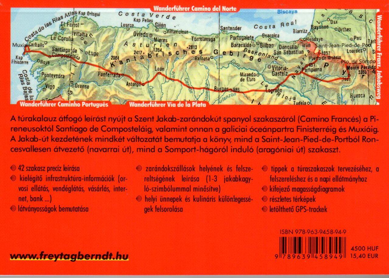 Rother: Szent Jakab út áttekintő térkép