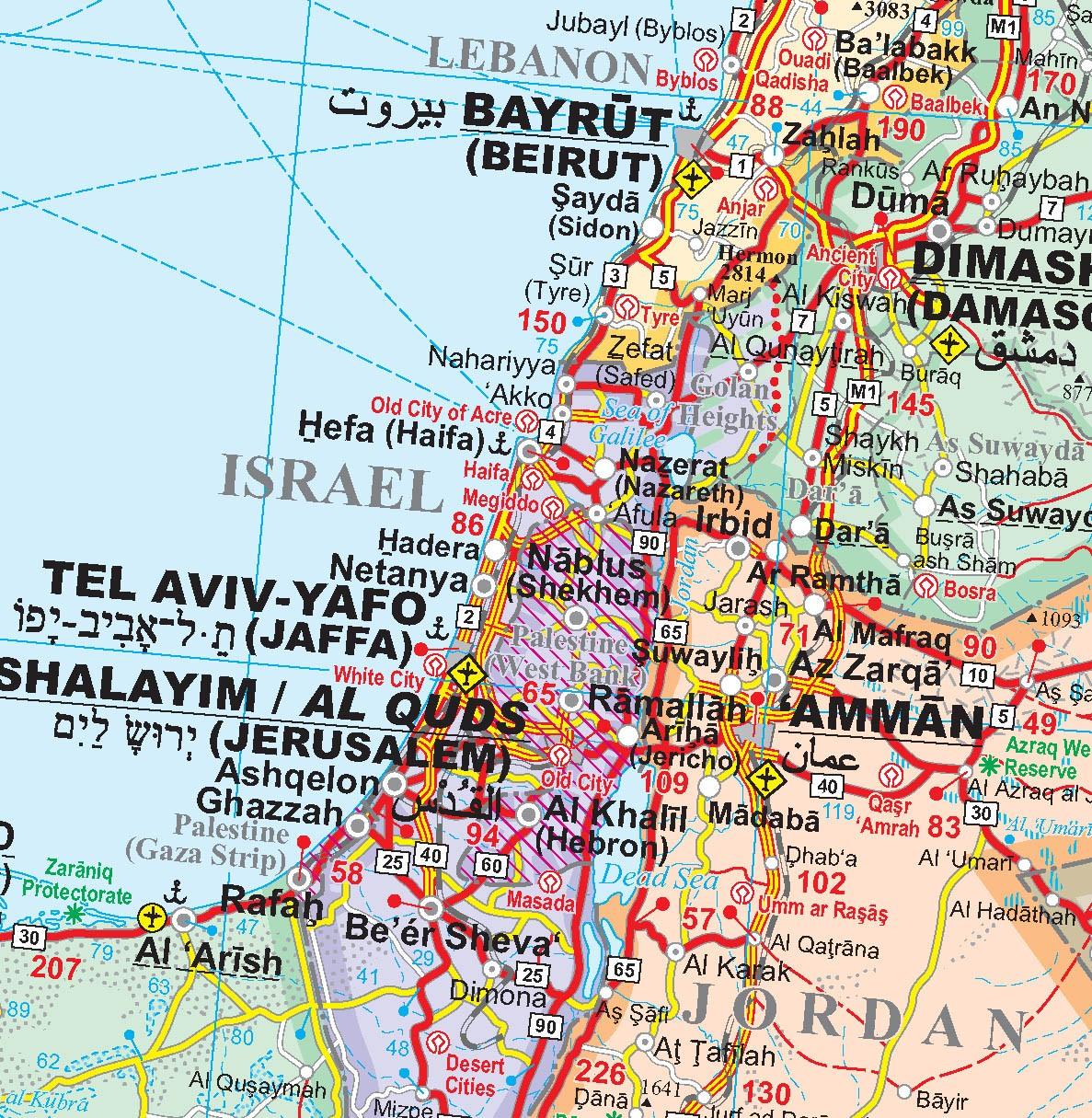 Közel-Kelet politikai térkép mintakivágat
