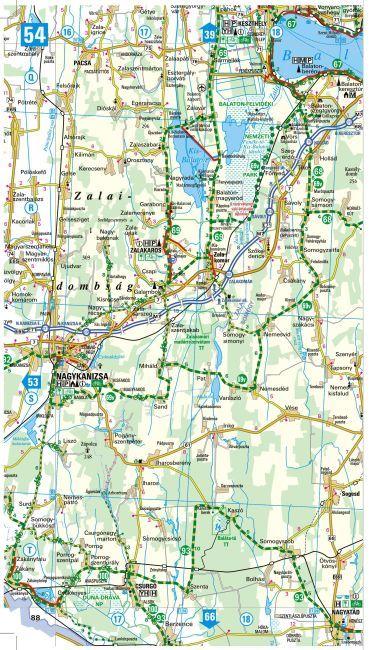 Magyarország kerékpáros atlasz mintatérkép