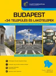 Budapest +34 környező település nagy formátumú spirálos atlasza