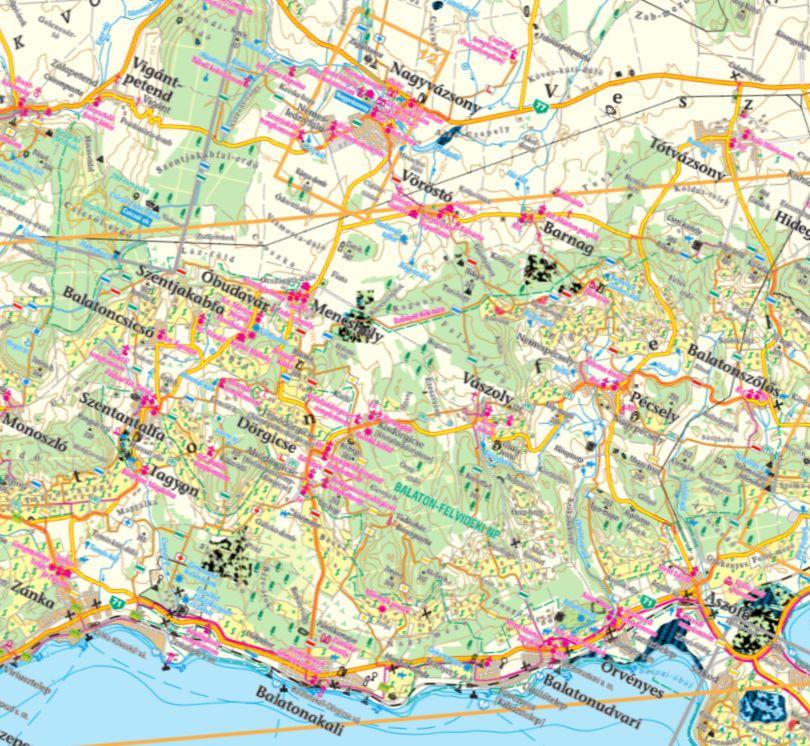 A Pécselyi-medence térkép által lefedett terület