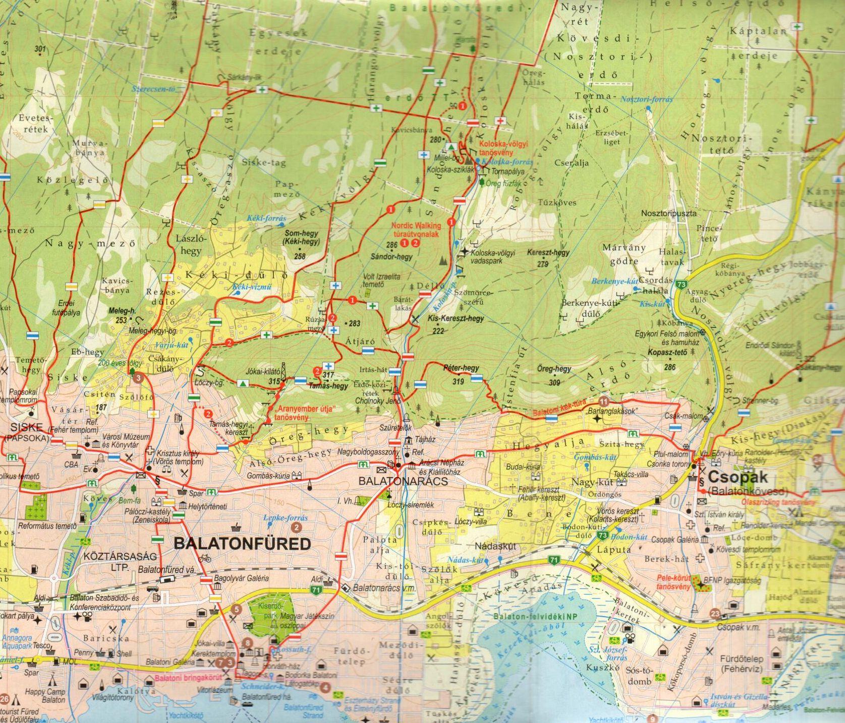 Balatonfüred és környéke mintakivágat