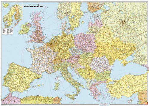 A F+B Európa térkép képe