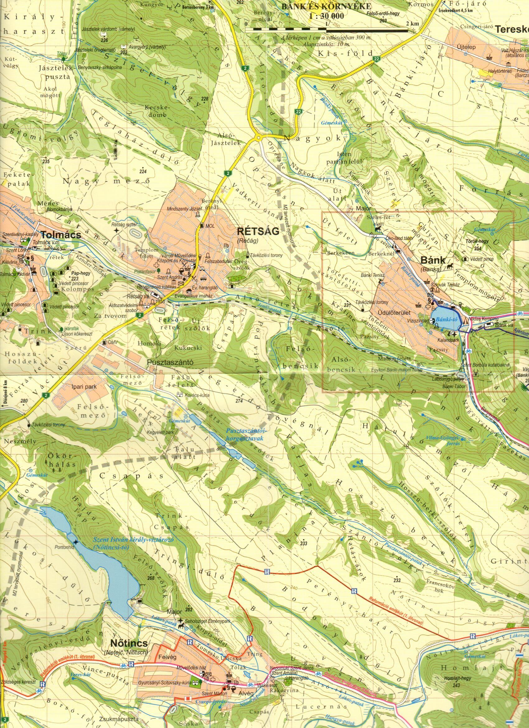 Bánk környéke térkép 1:30.000-es mintakivágat
