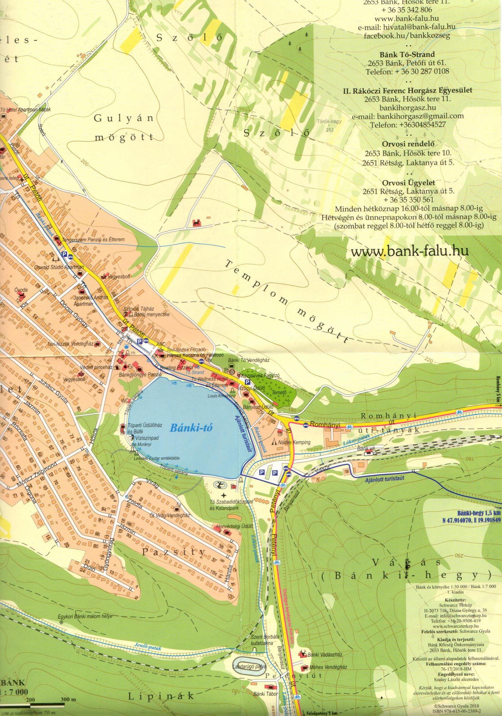 Bánk településtérkép mintakivágat