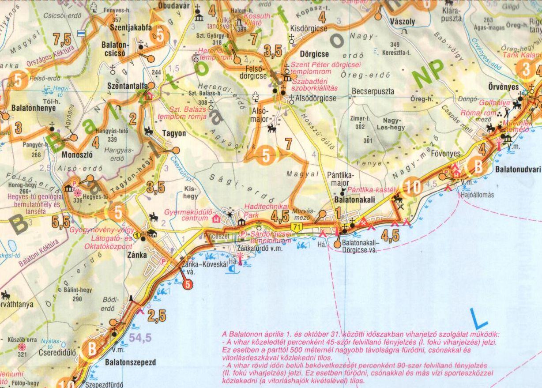 Balaton I. (keleti rész) aktív térkép mintakivágata