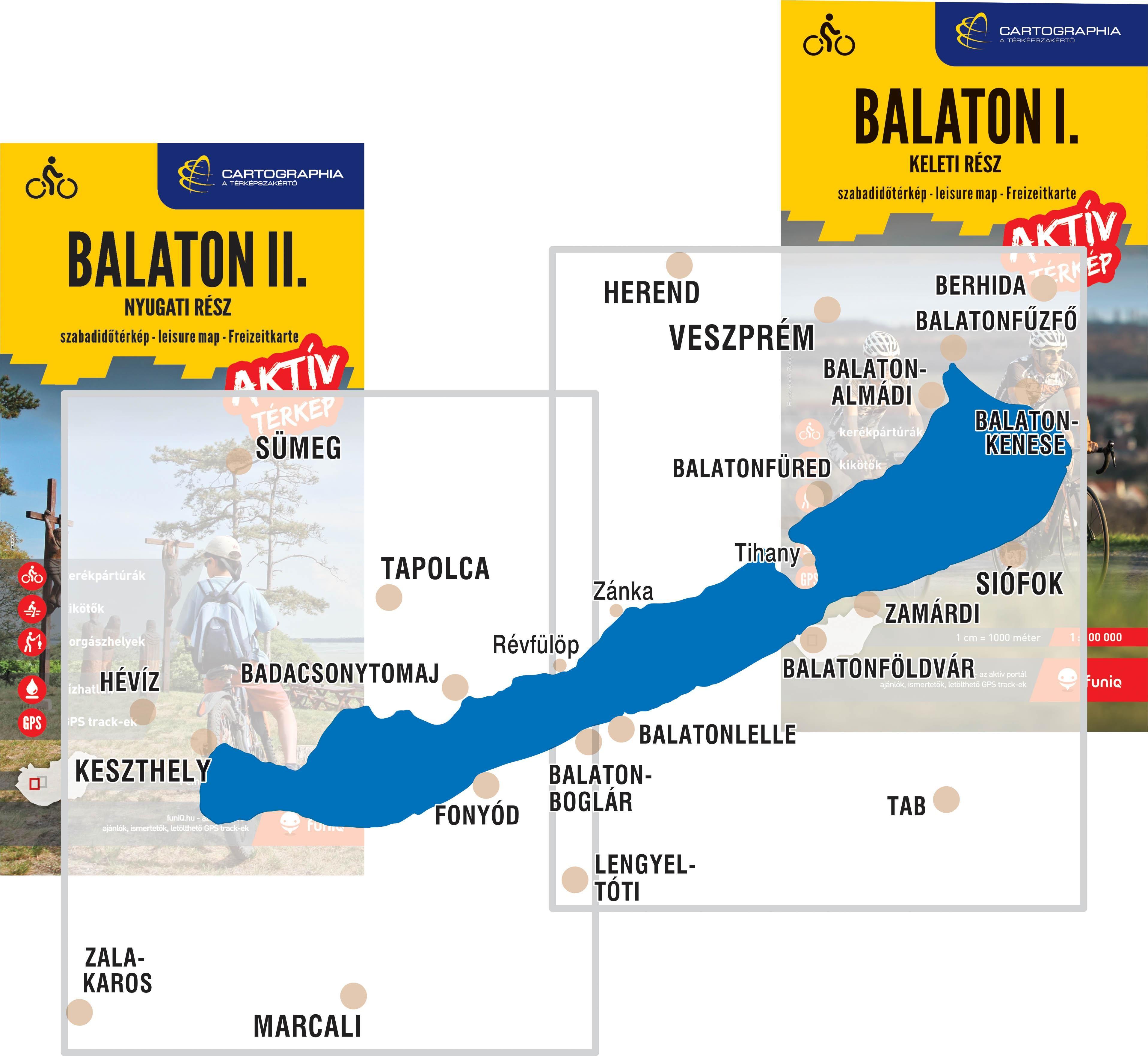 A Balaton aktív térképek által lefedett terület