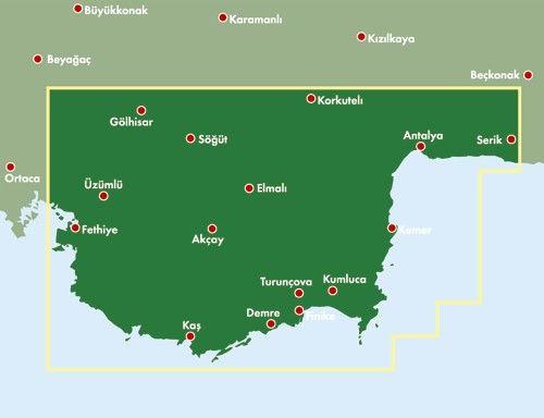 A Török-riviéra (FB) áttekintő térkép
