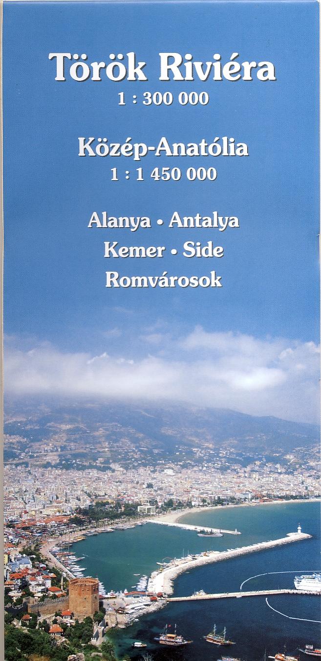 Turista információs térkép várostérképekkel és Közép-Anatólia autótérképével