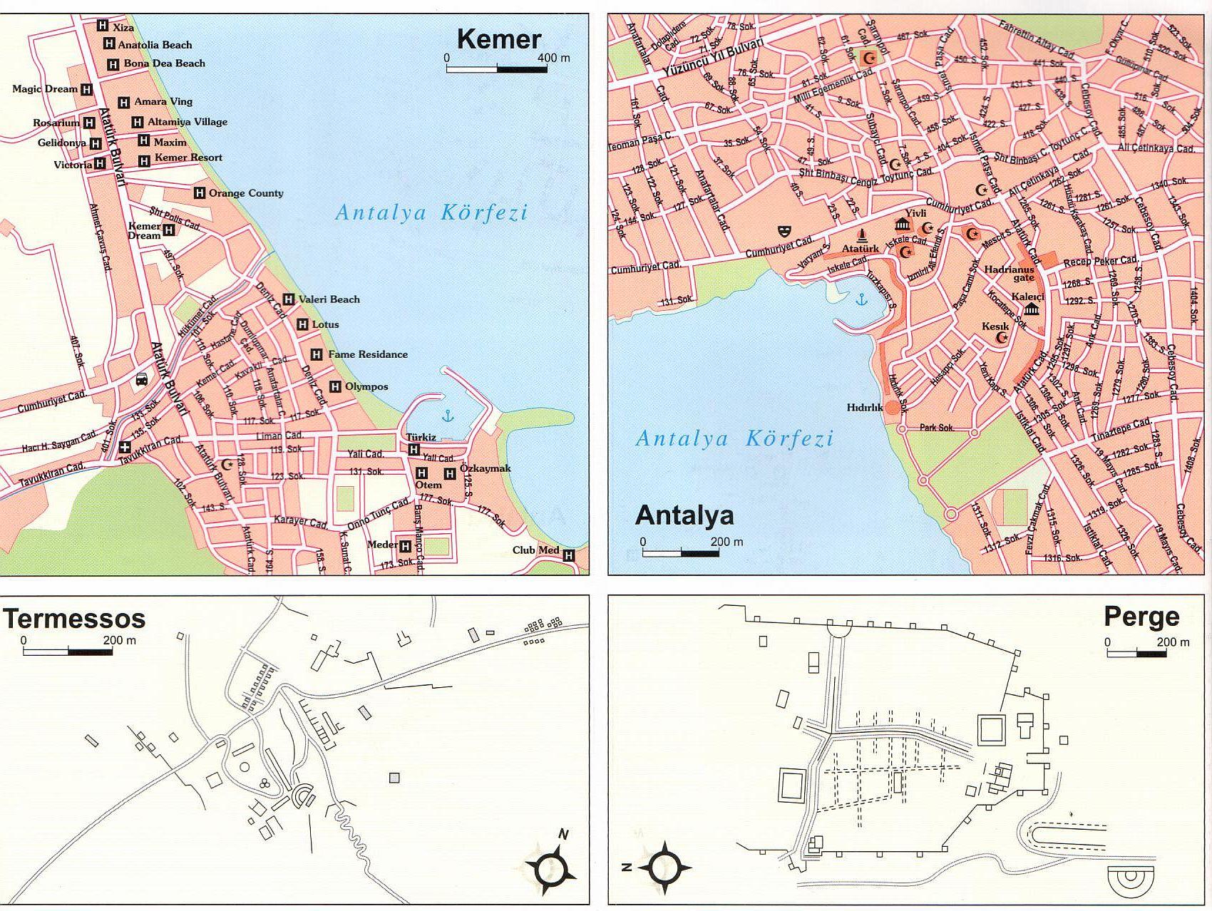 Török riviéra várostérkép minta