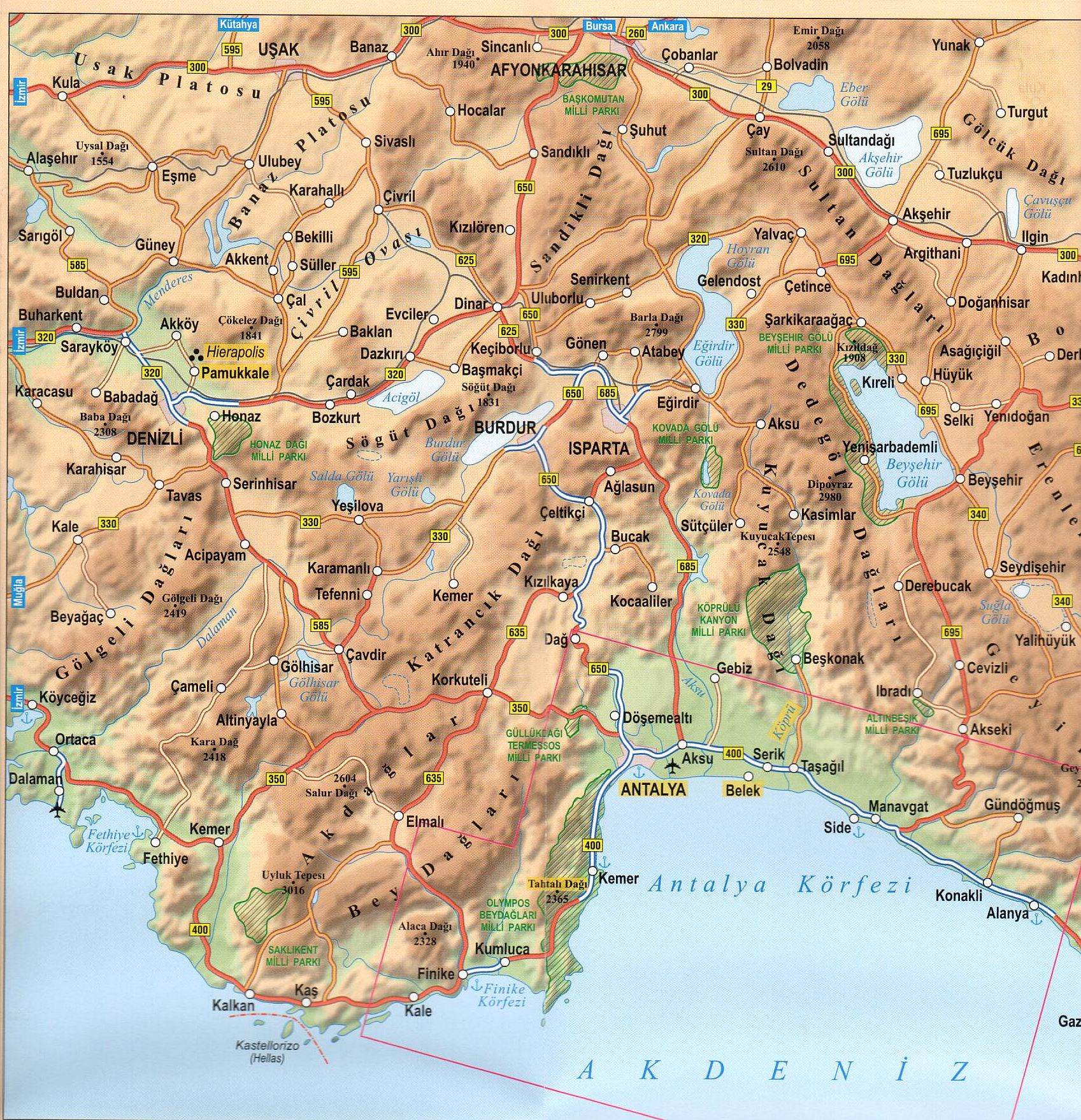Török riviéra mintakivágat Anatólia
