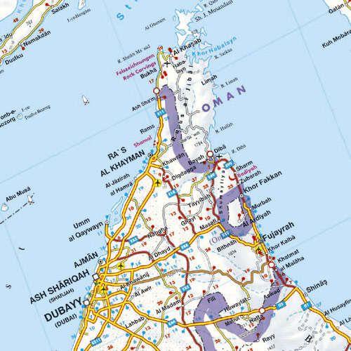 Egyesült Arab Emirátusok, Perzsa-Öböl, Katar, Bahrein, Kuvait térképminta