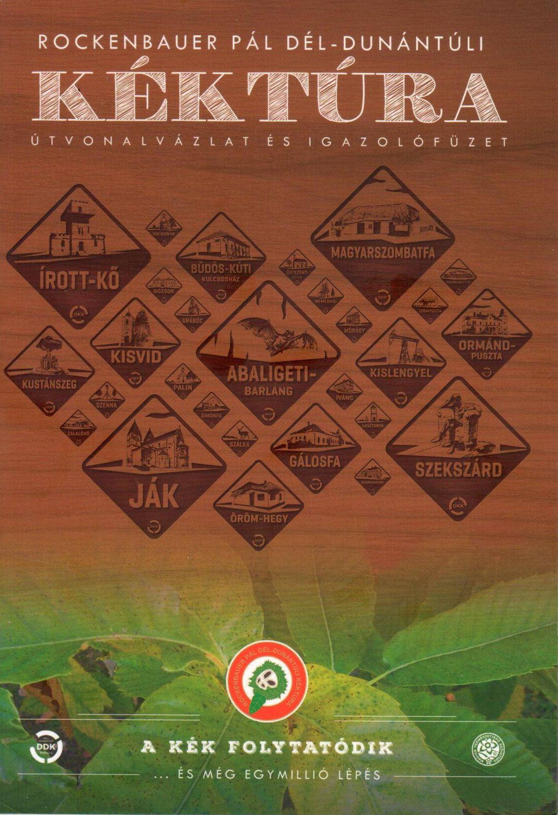 A Rockenbauer Pál Dél-Dunántúli Kéktúra térképes igazoló füzete