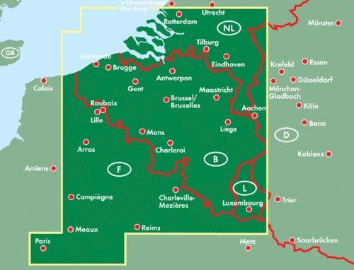 A Belgium térkép által lefedett terület