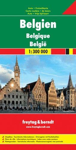 Belgium részletes autótérképe autótérképe irányítószámos névmutatóval