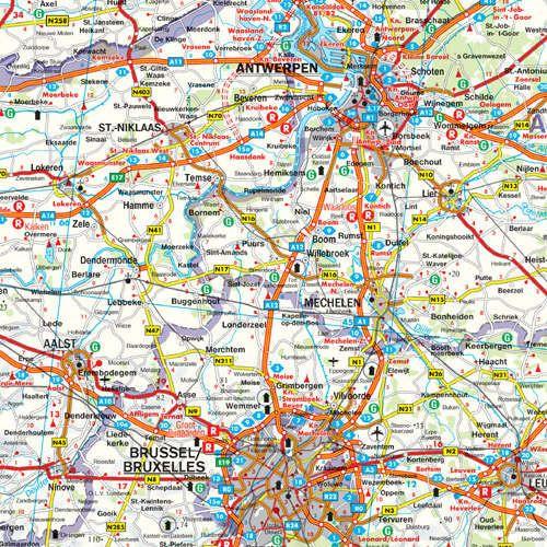 Belgium autótérképe: mintakivágat