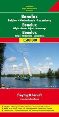 A Benelux országok részletes autótérképe névmutatóval
