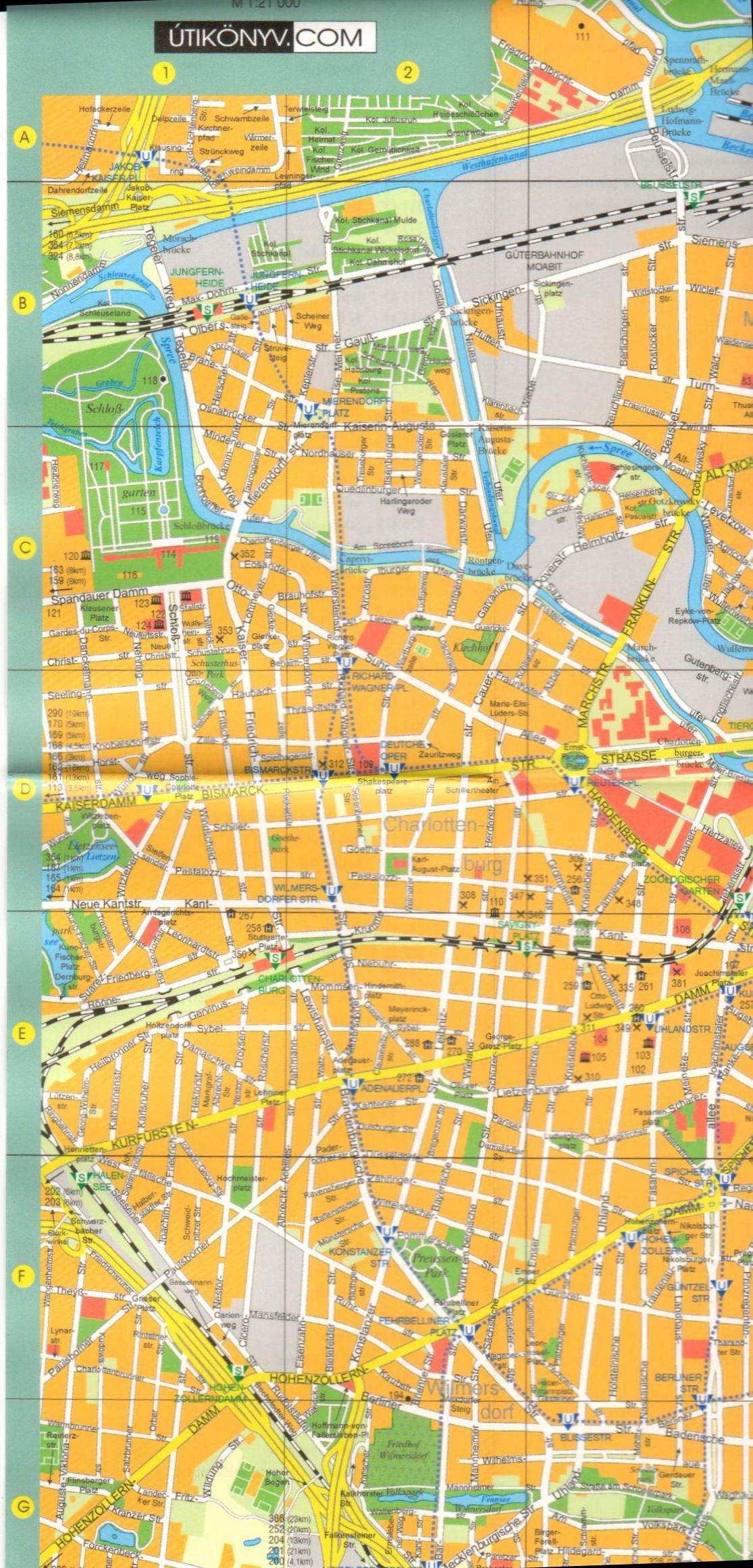 Berlin térkép mintakivágat
