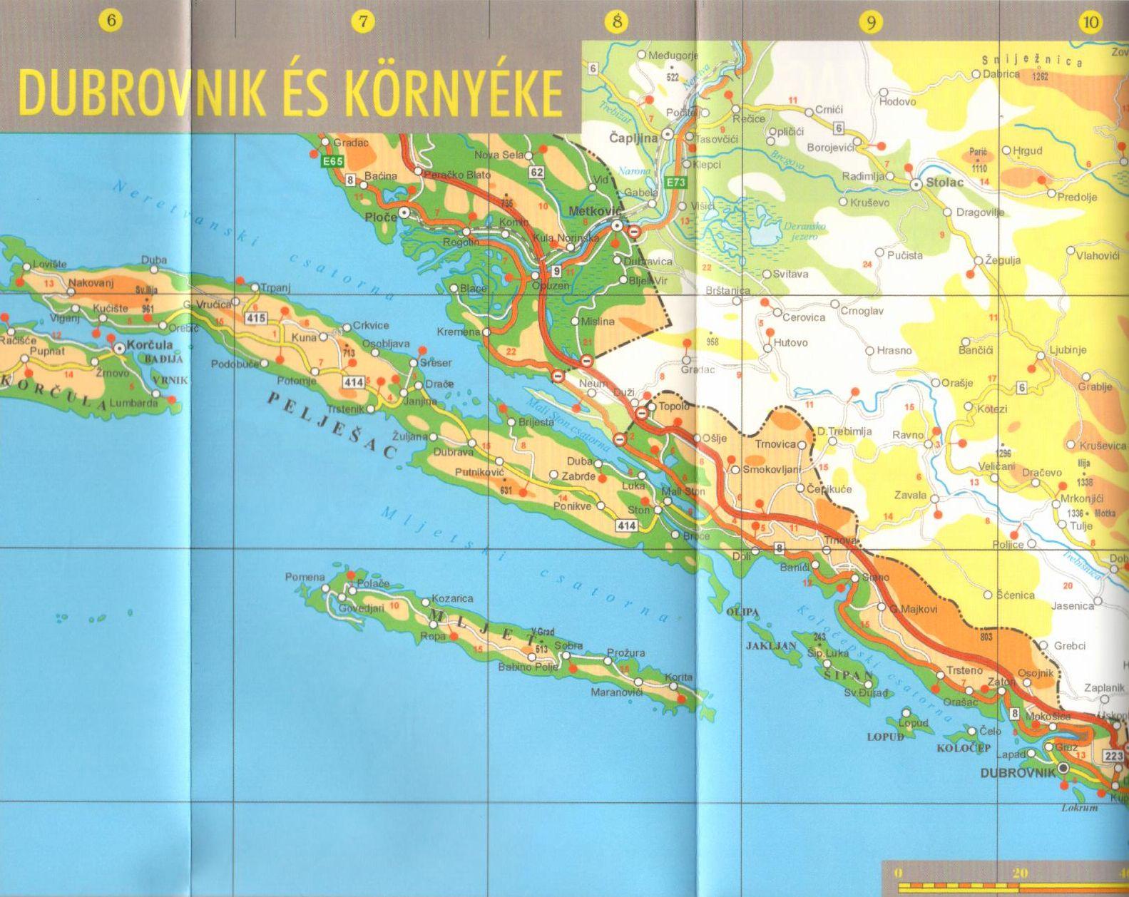 Horvátország térkép mintakivágat