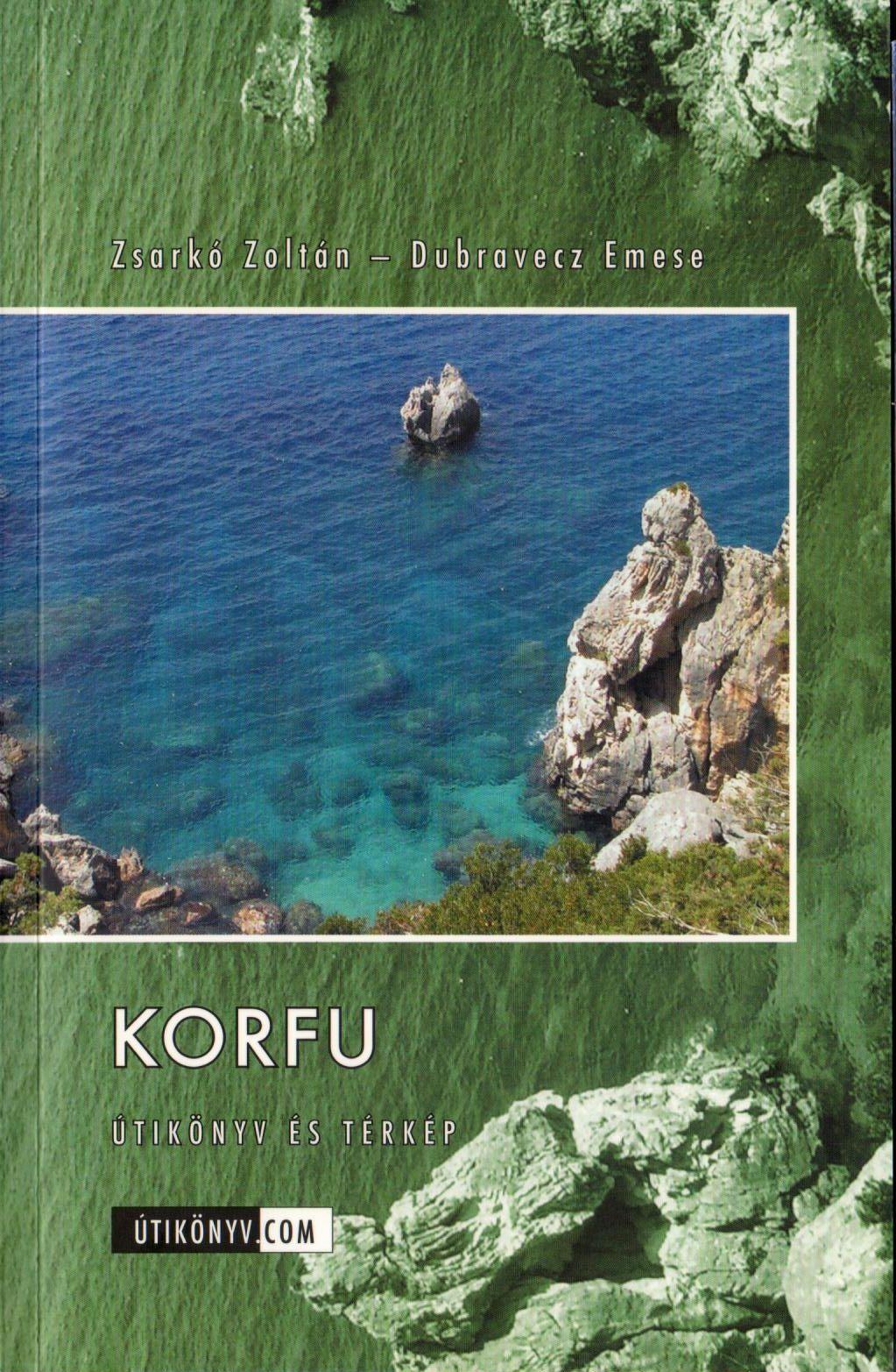 Korfu útikönyv kivehető vízhatlan, eltéphetetlen térkép melléklettel
