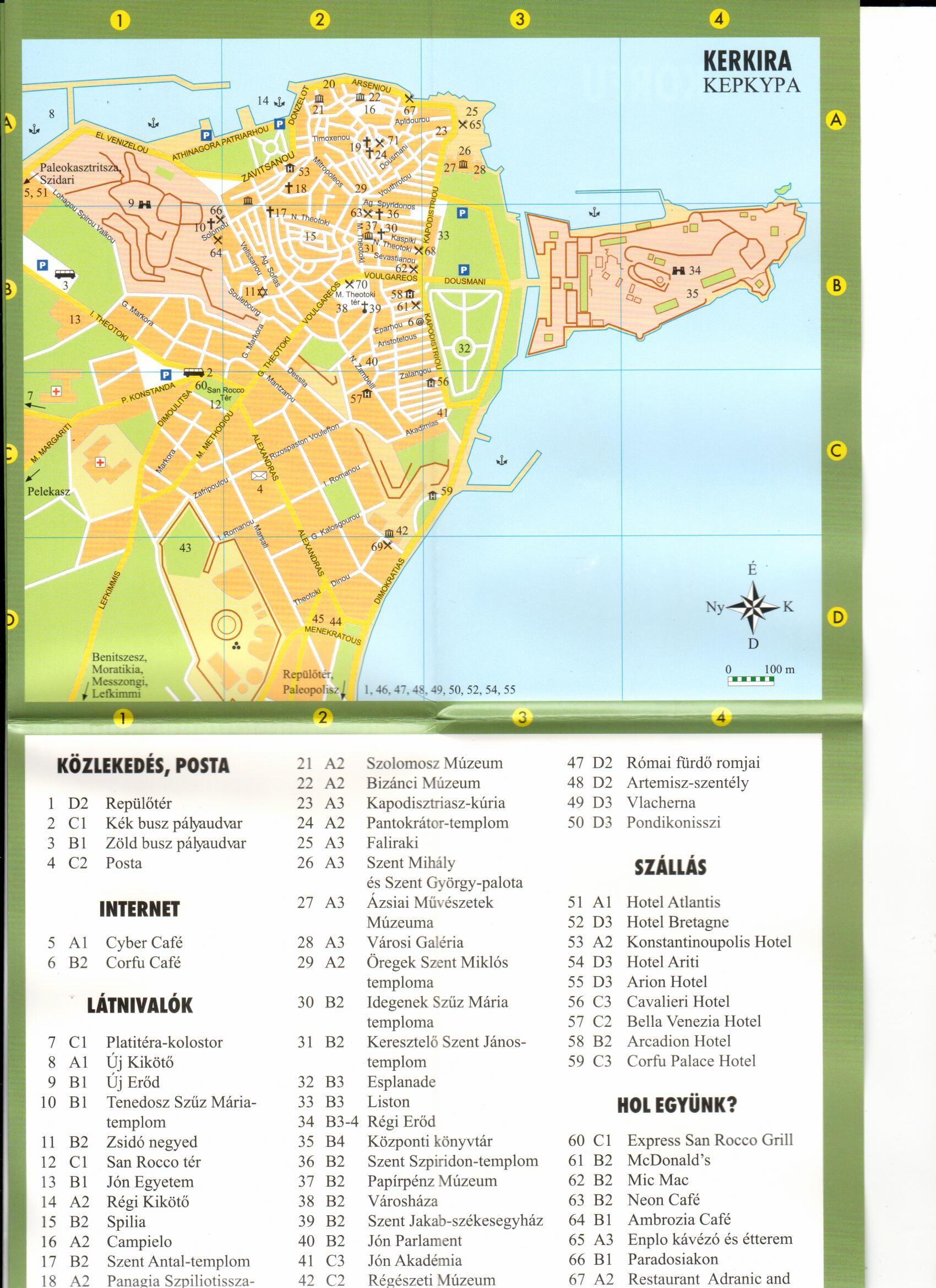 Korfu várostérkép minta