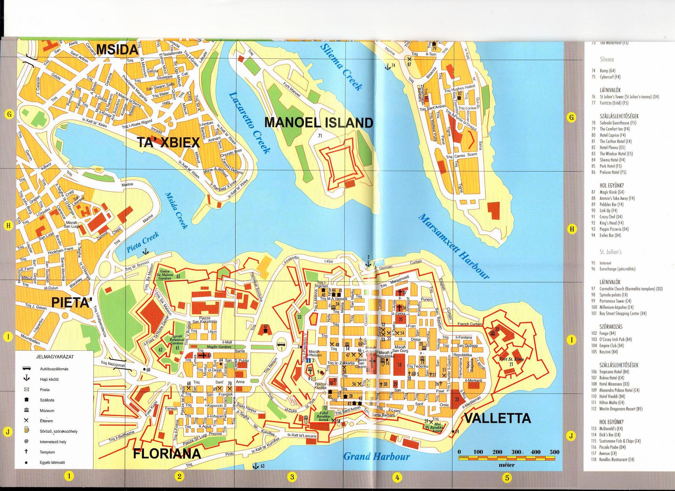 Málta várostérkép minta