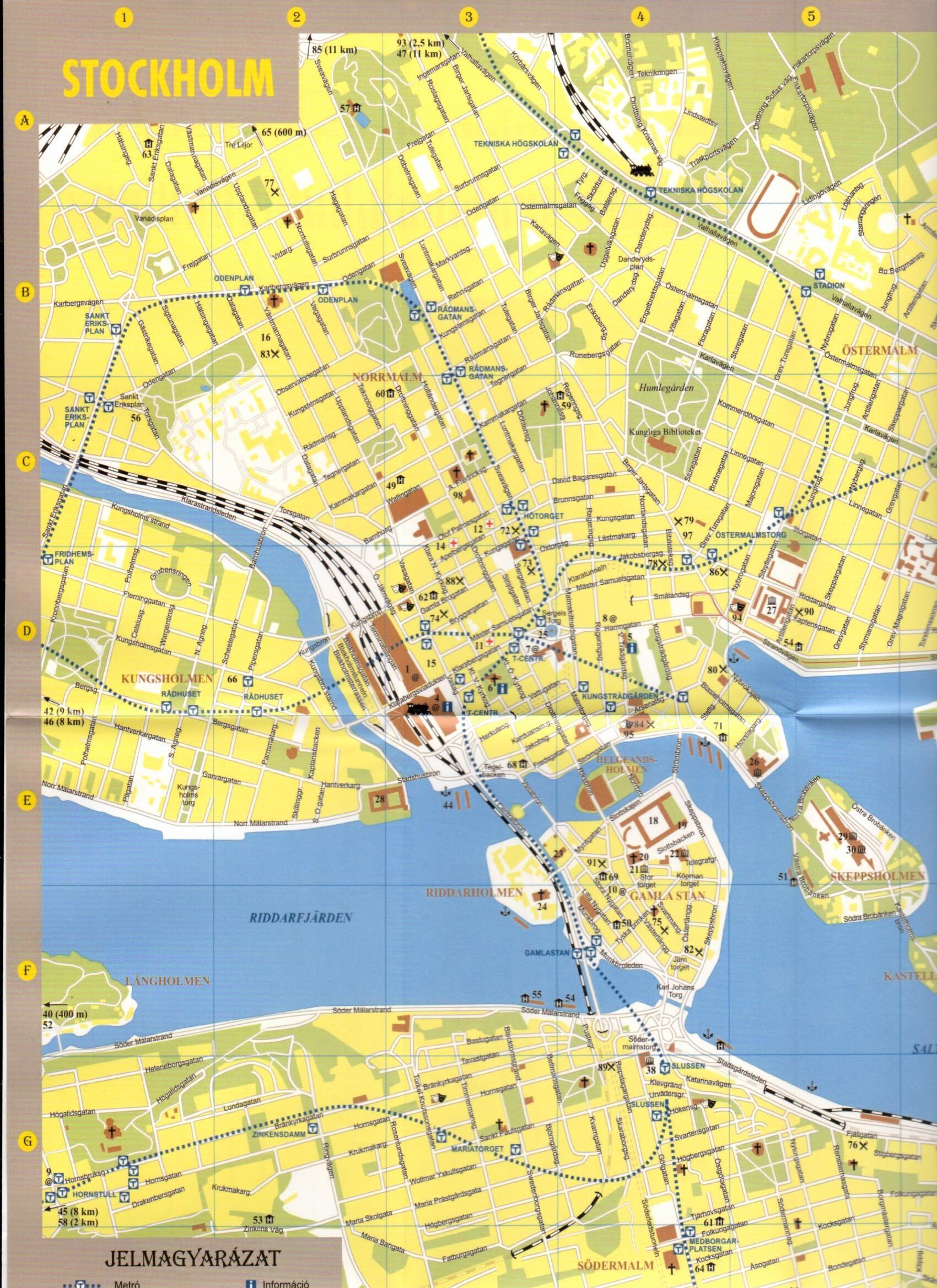 Svédország Stockholm várostérkép mintakivágat