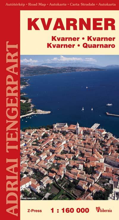 Kvarner autóstérkép turista információkkal és 14 várostérképpel (2006)