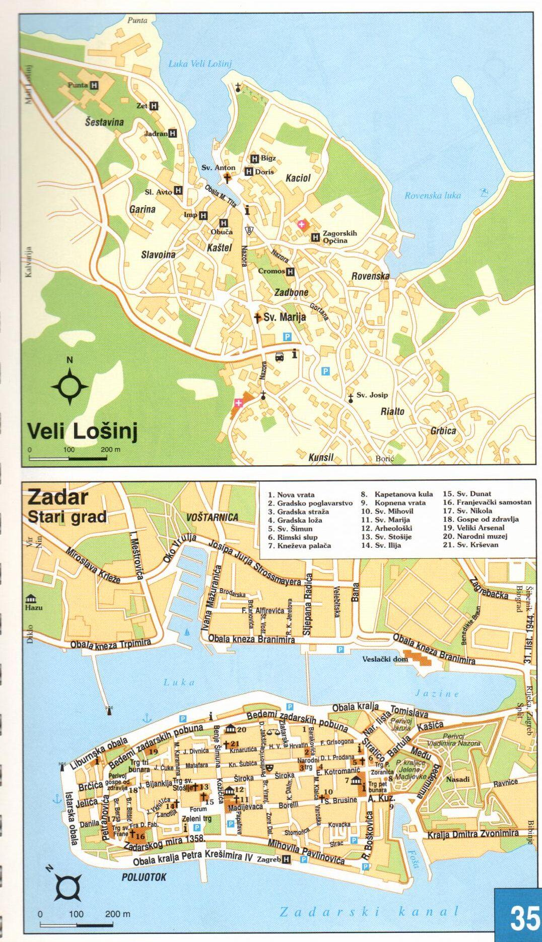 Adria atlasz Zadar óvárosa