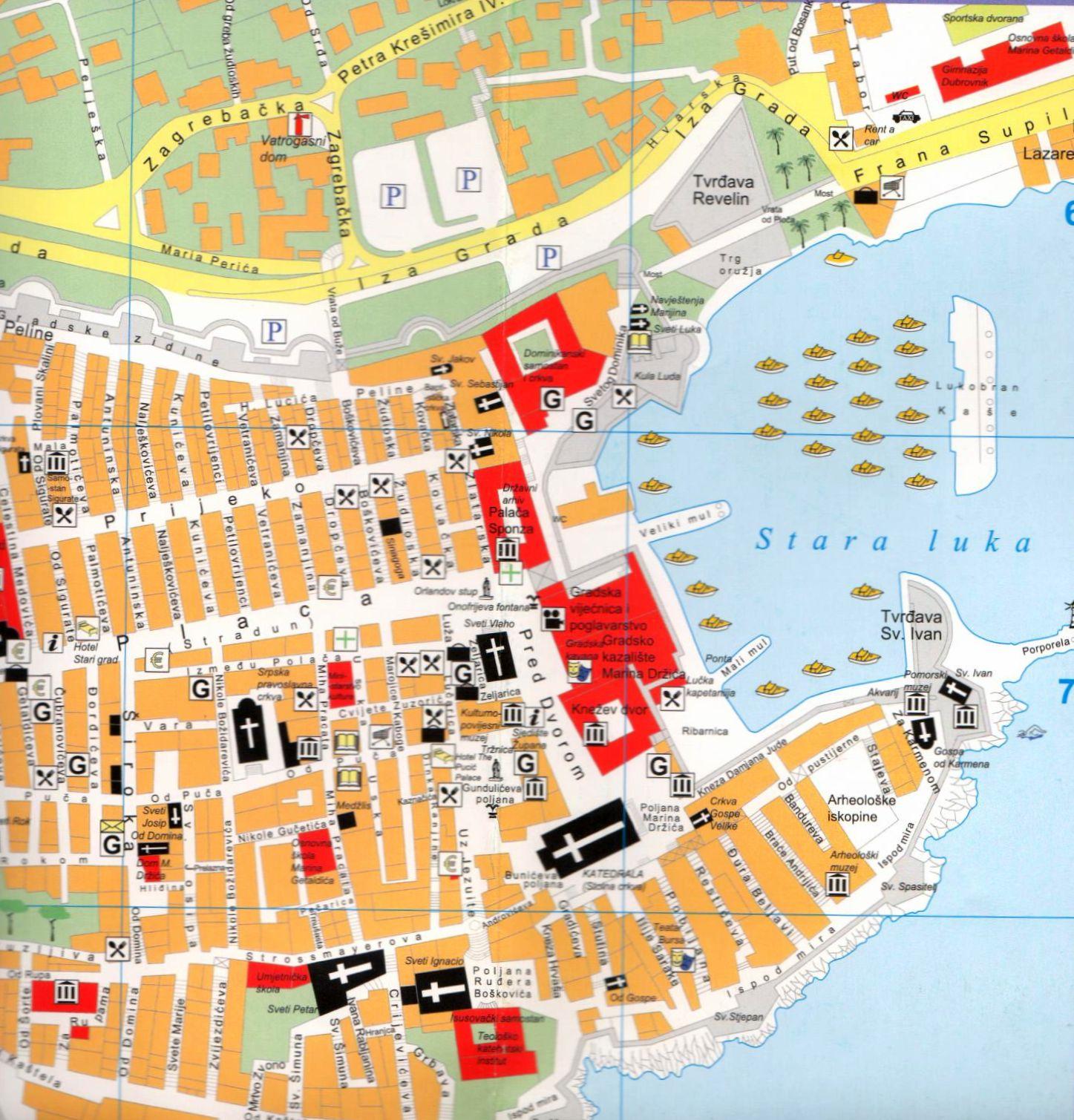 Dubrovnik térkép mintakivágat