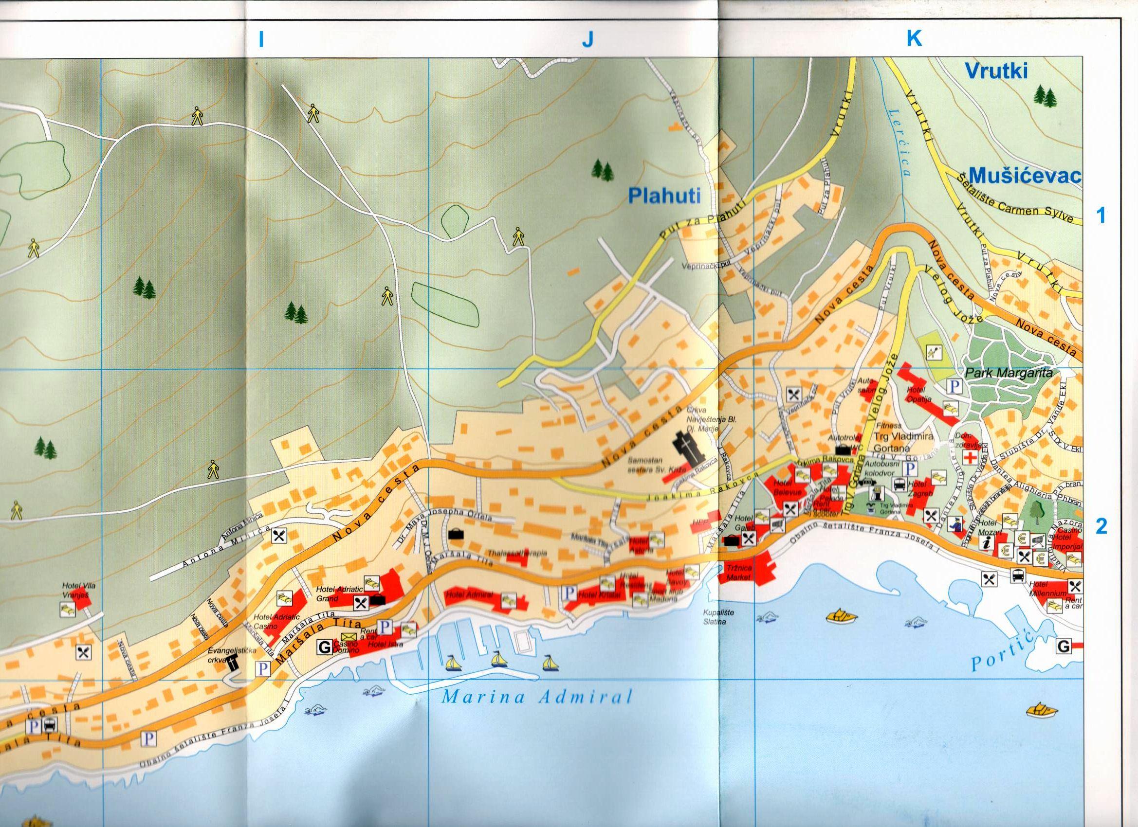 Opatija térkép mintakivágat
